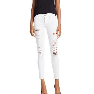 FRAME classic distressed skinny jeans